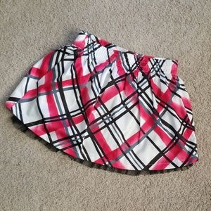 Girls Sonoma red and black plaid skirt; Size 5